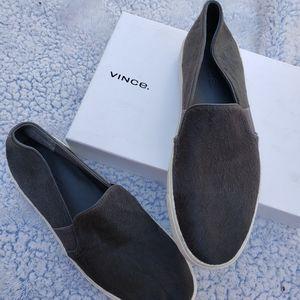 VINCE real fur sneakers genuine flat women shoes